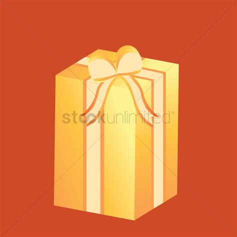 gift box with ribbon vector image 1489541 stockunlimited