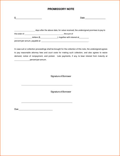 promissory template promissory note template word ebook database