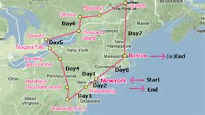 eastern us airports map 8 day east coast us canada w airport transfers
