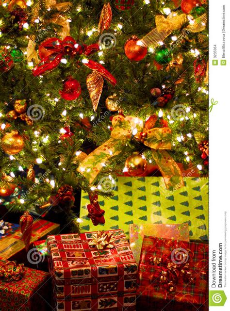 gifts under christmas tree stock photo image of celebrate