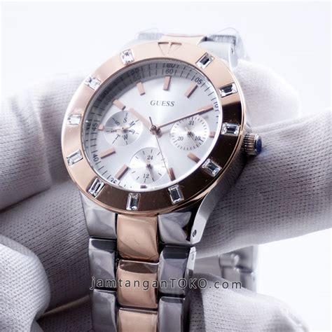 Jam Tangan Guess 620 Silver harga sarap jam tangan guess glisten two tone w14551l1