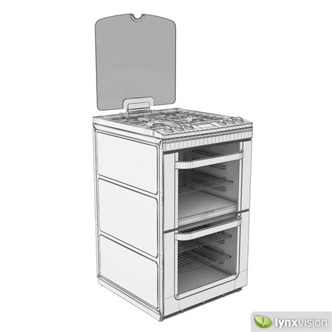 Oven Gas Electrolux Indonesia electrolux gas cooker oven 3d model max obj fbx
