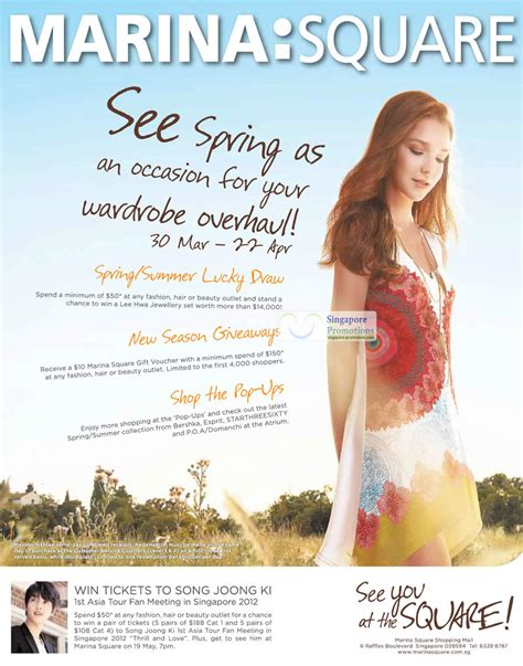 Lucky Giveaways - lucky draw giveaways pop ups 187 marina square spring highlights promotions 30 mar