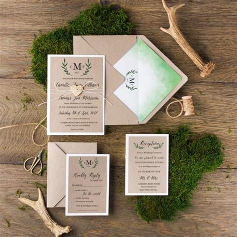 wedding invitations with monograms diy rustic wedding invitation suite 20 rustic wedding invitations ombre wedding invitation set