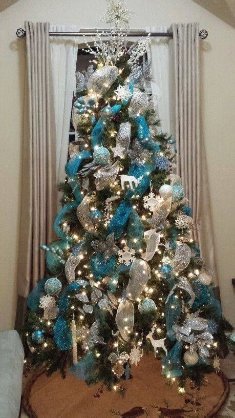 blue and silver decorated christmas trees 25 best ideas about teal on teal tree turquoise