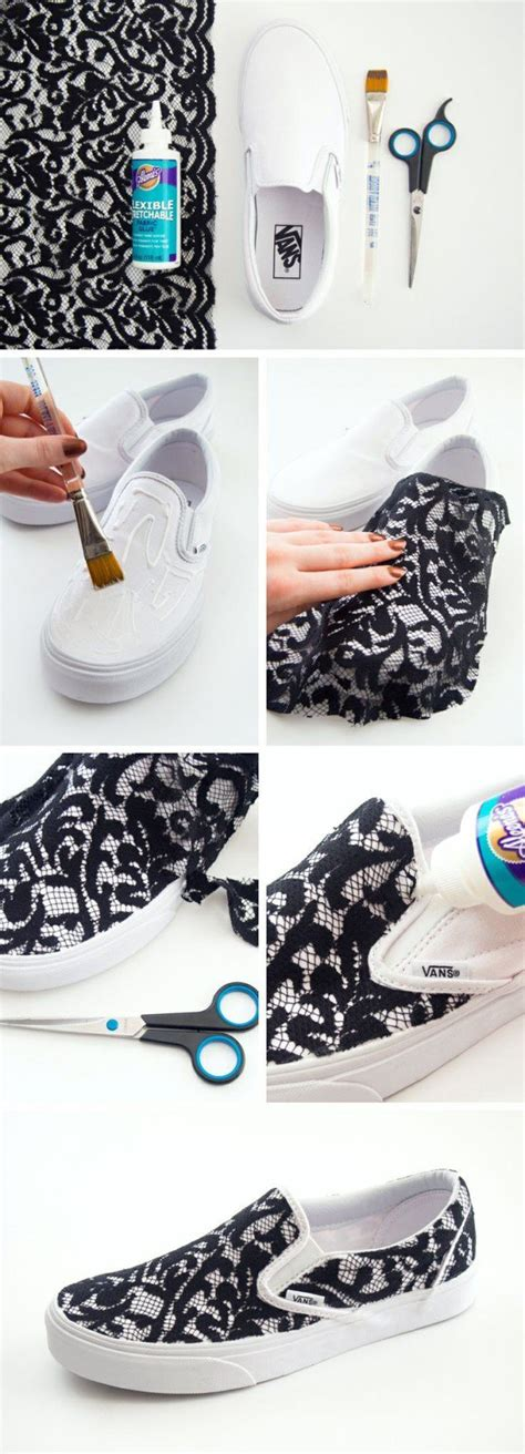 diy white shoes 20 amazing diy sneakers makeover ideas