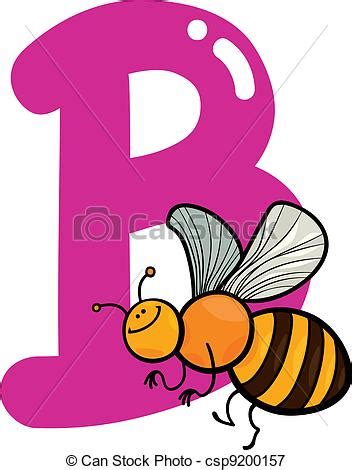 B For b for bee illustration of b letter for bee