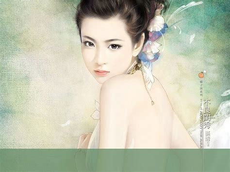 new chinese girls painting angelic sweet girl beautiful chinese girl painting