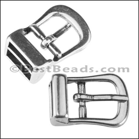 Murah Buckle Clasp Connector Silver 10mm flat buckle connector clasp ant silver per 10 pieces