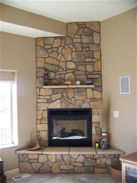 Caddy Corner Fireplace by Corner Fireplaces River Rock Corner Fireplace