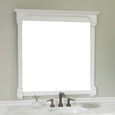 white frame bathroom mirror bellaterra home calabria 42 in solid frame mirror white