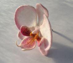 felt orchid pattern felt orchid orchid white fuschia orchid felt handmade 6
