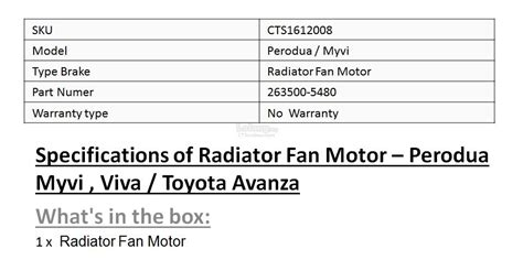 Motor Radiator Fan New Avanza Velos Terios Original Asli perodua myvi viva radiator fan mo end 12 28 2017 4 15 pm
