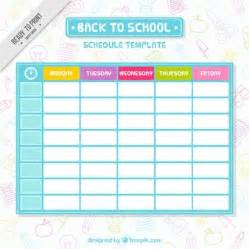 School Photo Template by Schedule Vectors Photos And Psd Files Free
