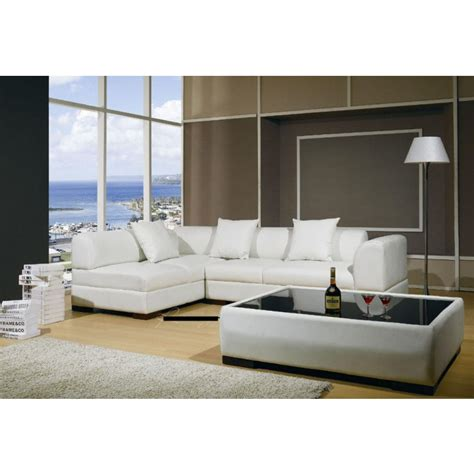 Modern Sectional by T 72 Modern Leather Sectional Sofa Set