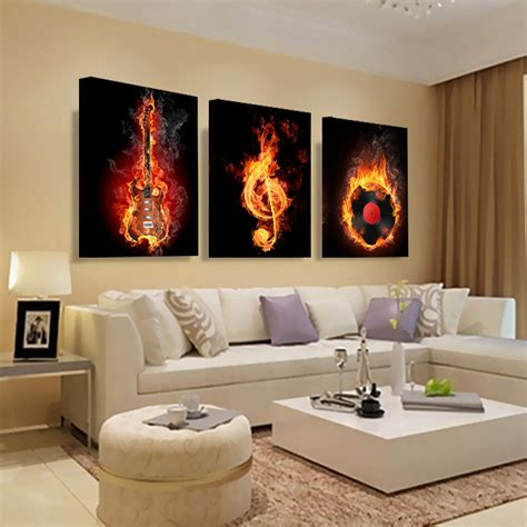abstract home decor music 3 piece canvas wall painting abstract home decor