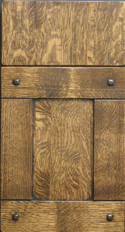 Rustic Kitchen Cabinet Doors Quarter Sawn White Oak Shaker Cabinet Door With Custom Pegs Rustic Kitchen Cabinets Other