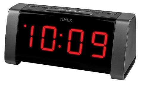 l radio alarm clock timex t235by am fm dual alarm clock radio black