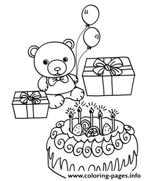 happy birthday teddy bear coloring page teddy happy birthday bear 9265 coloring pages printable