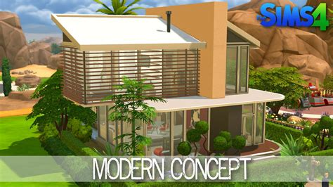 modern house building the sims 4 house building modern concept speed build