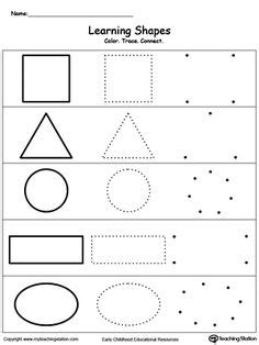 pattern worksheet kindy shape color page education school coloring pages color