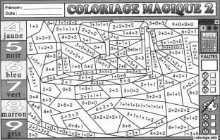 coloriage magique addition 34 dessin