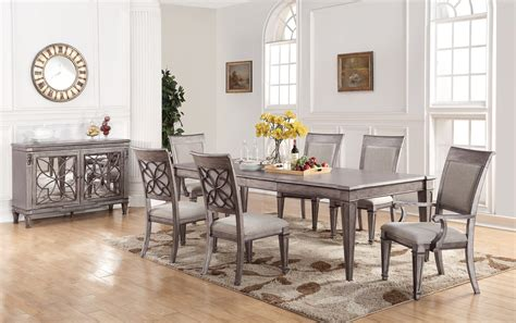 silver dining room table silver dining room set cbell silver finish table set