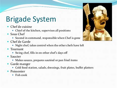 What Is The Kitchen Brigade by Workstations In The Professional Kitchen