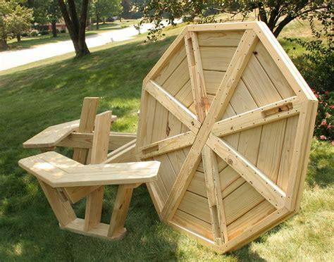 plans plans building  octagon picnic table
