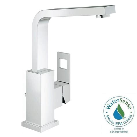 Grohe Faucets Home Depot by Grohe Eurocube Single Single Handle Bathroom Faucet