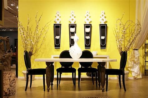 Wall Decor For Dining Room Dining Room Wall Decor With Yellow Paint And Pottery Wall Decolover Net