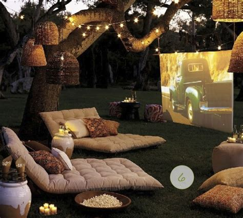backyard movie party room for dessert food party style outdoor party fun