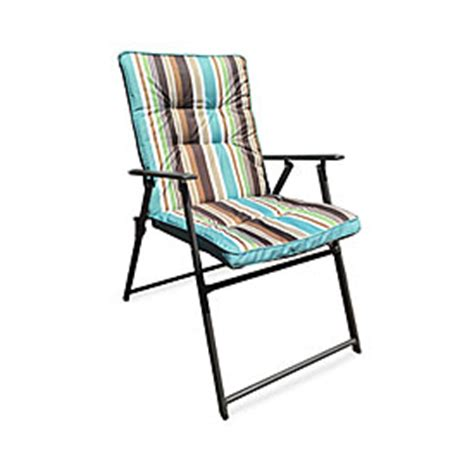 Wilson Fisher 174 Stripe Padded Outdoor Folding Chair Big Folding Padded Patio Chairs