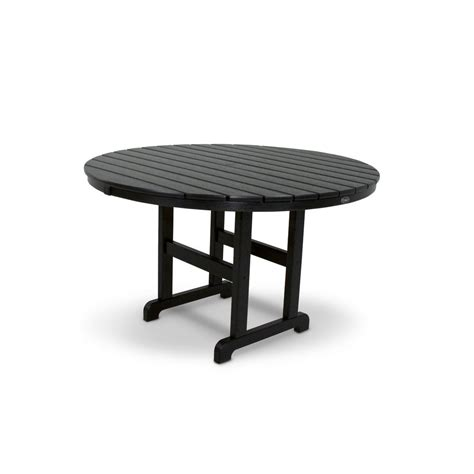 Composite Patio Table Trex Outdoor Furniture Monterey Bay 48 In Charcoal Black Patio Dining Table Txrt248cb