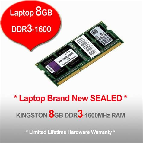 Ram Laptop Ddr3 8gb Kingston kingston 8gb ddr3 1600 laptop end 7 22 2017 1 15 am myt