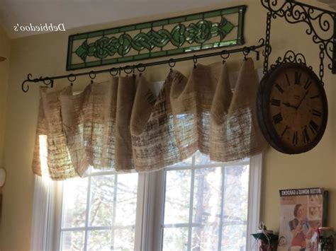 Rustic Valances Affordable Stratton Burlap Star Window Rustic Kitchen Curtains