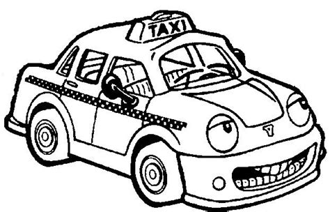 taxi car coloring page coloriage taxi de new york