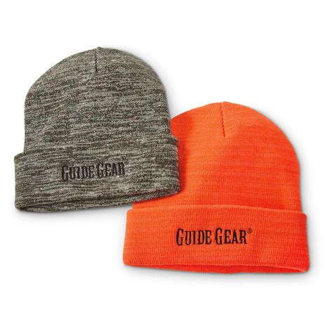knit pack guide gear knit beanies 2 pack 667158 hats caps at
