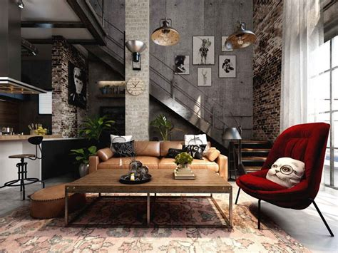 industrial home interior design loft interior design ideas
