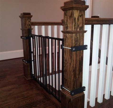 Gate For Top Of Stairs With Banister by Baby Gates Babyproofing Help I Atlanta S Pro Babyproofer