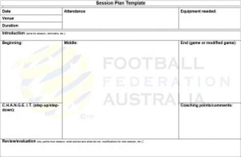 coaching session plan template coaching resources northern nsw football