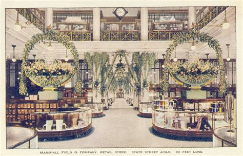 Chicago Home Decor Stores postcard chicago marshall field department store
