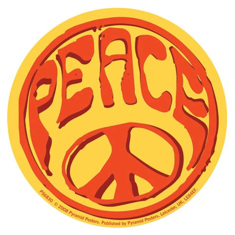 Sticker Peace peace sticker sold at abposters
