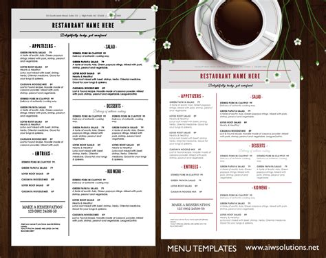 restaurant menus design cover template vector 05 free download
