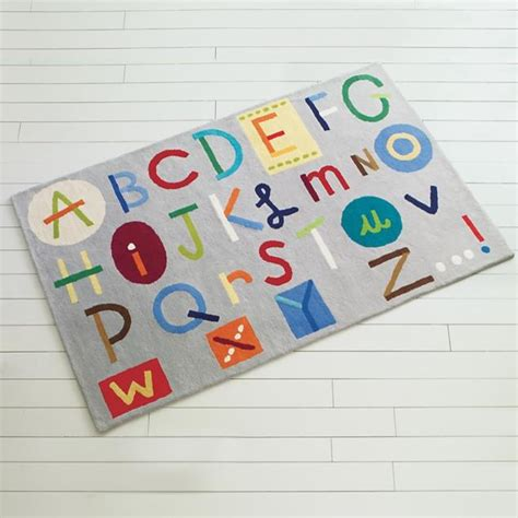 childrens rug colorful alphabet abc rug modern rugs by the land of nod