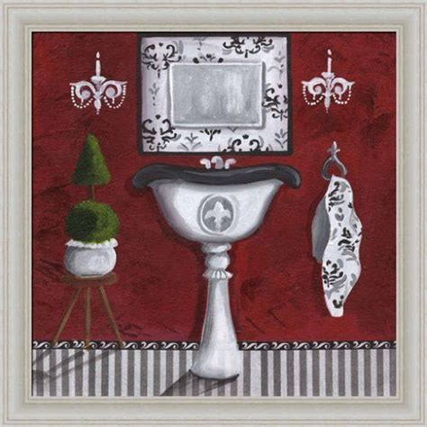 framed pictures for bathroom french sink in red bathroom d 233 cor 14x14 framed art print