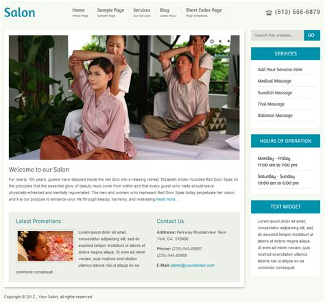 wordpress themes free nails salon wordpress theme hair salon theme spa theme