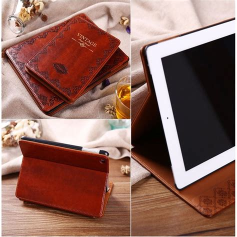 vintage style covers luxury retro ancient vintage flip book style pu
