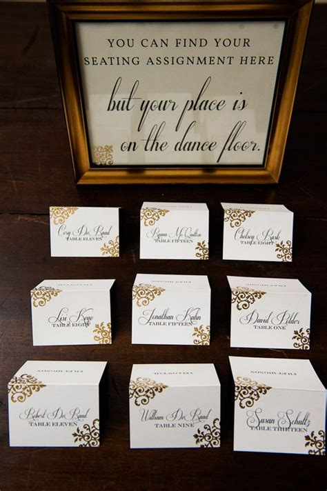 Place Cards For Wedding Seating