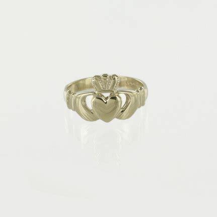 hallmarked 9ct yellow gold mens claddagh ring ebay